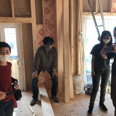 武蔵野市新築現場構造見学