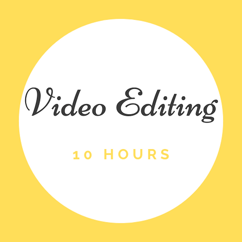 10 Hrs Video Editing