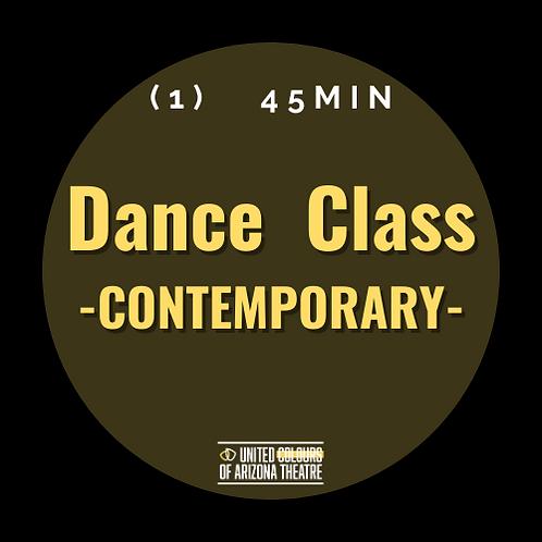 45 min Dance Class- CONTEMPORARY