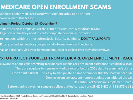 BEWARE! Medicare Open Enrollment Fraud