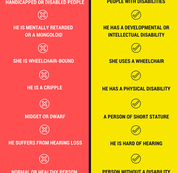 People First Language Infographic