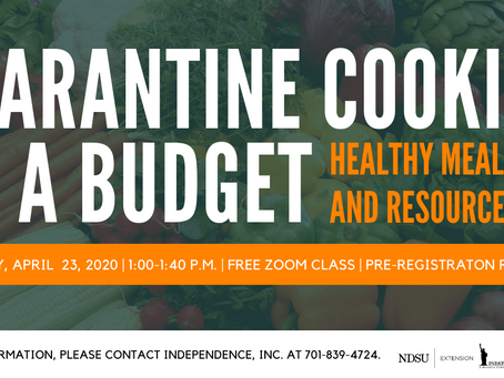 Register Today for Quarantine Cooking on a Budget