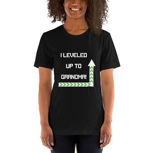 I Leveled Up to Grandma Short-Sleeve Unisex T-Shirt