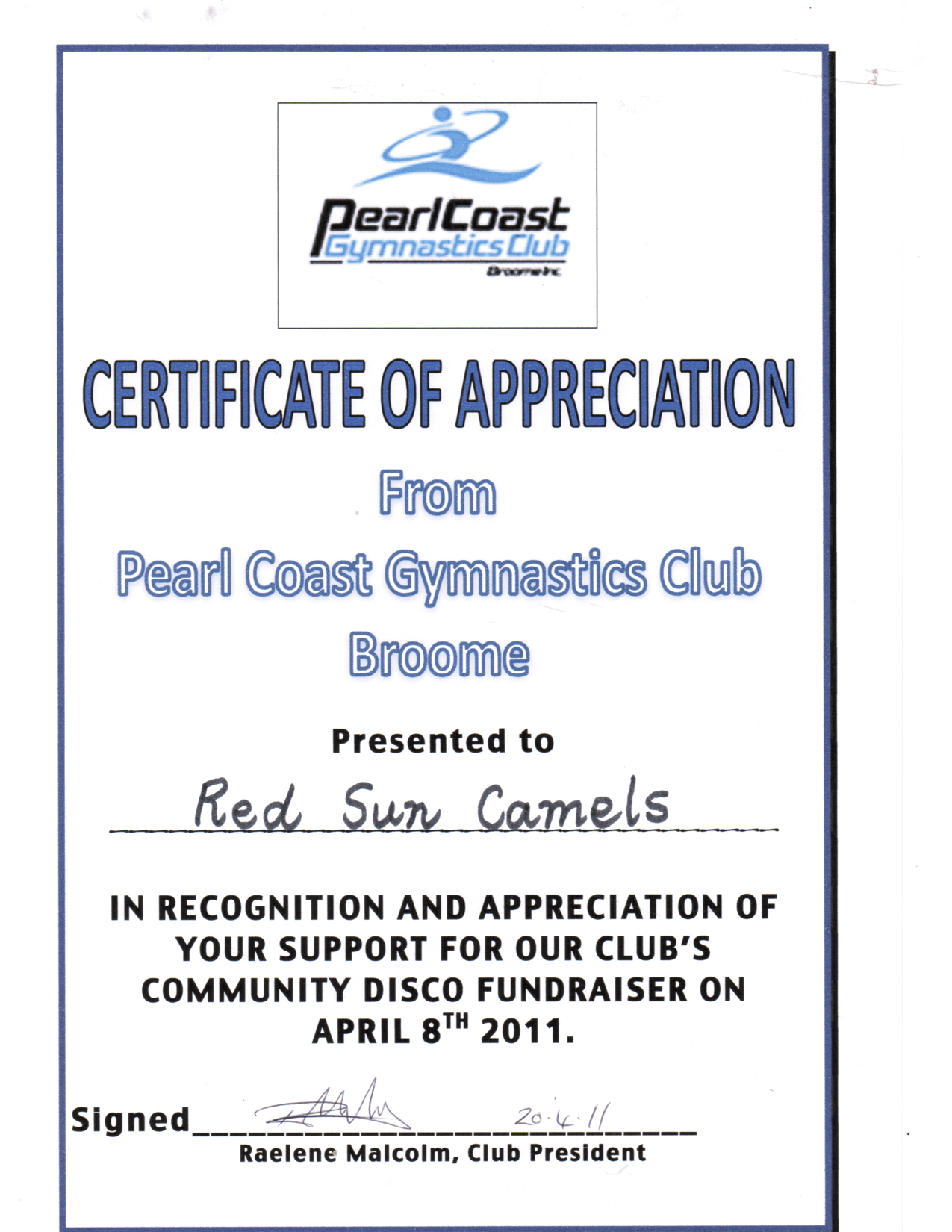 Pearl Coast Gymnastics April 2011