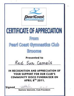 Pearl Coast Gymnastics April 2011