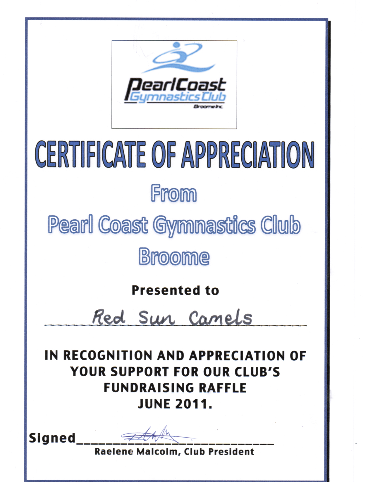 Pearl Coast Gymnastics June 2011