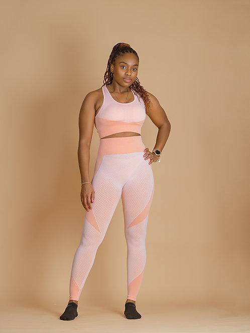 3 Piece Sexy Zipper Gym Wear Set
