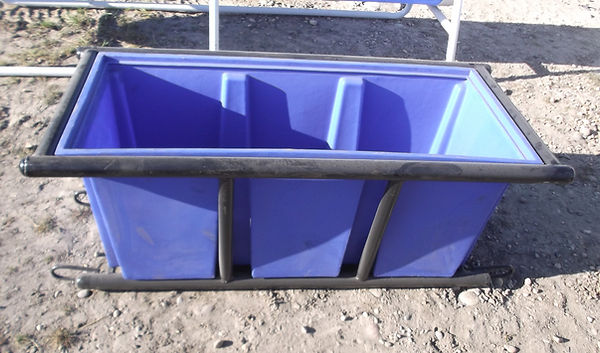 skiddable water trough for livestock