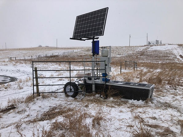solar winter watering system for cattle