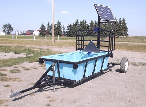 Mobile solar watering system by Promold