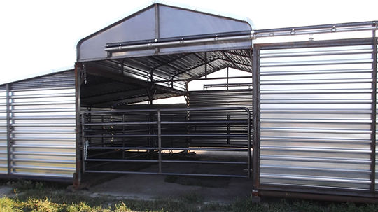 Promold 3 piece portable cattle barn