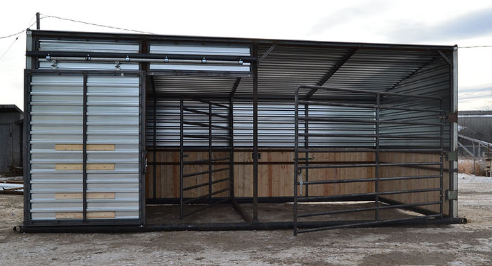 Promold Custom Horse Shelter wit wood lining