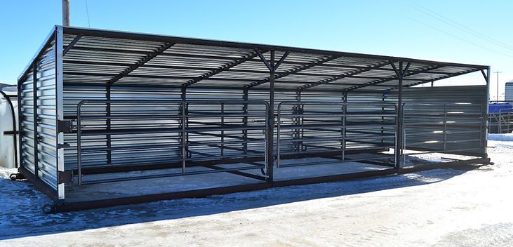 Promold Cattle Shelter 36' with 3 - 12' x 12' pens