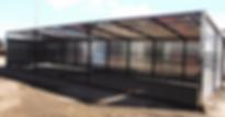 Promold 24' Cattle Shelter Full Open