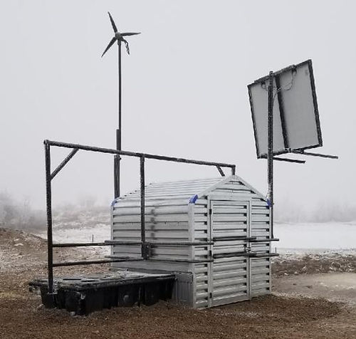 insulated well house, winter watering system for livestock