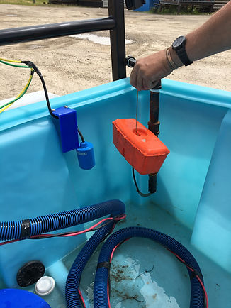 pump and float for livestock water system