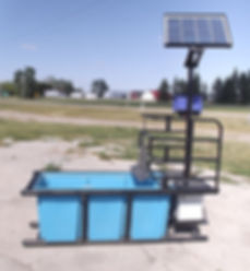 solar powered 5' x 2' Promold water trough