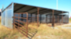 Promold 40' Cattle Shelter with 4 pens