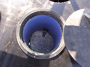 drink tube from a Promold winter watering system for livestock