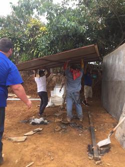 Volunteers Work Hard