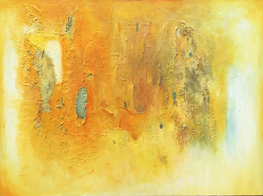 LR Poetry in Gold 29 - 36 x 48 inches -
