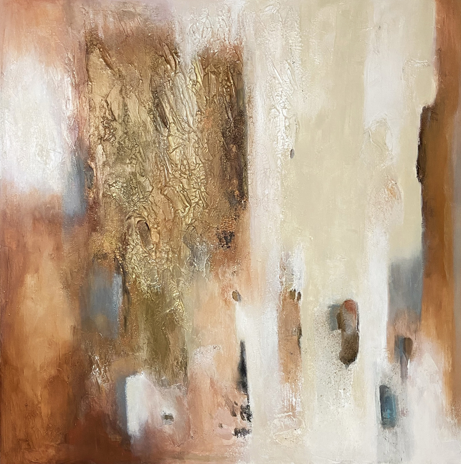 Poetry in gold 41 -42x42 inches