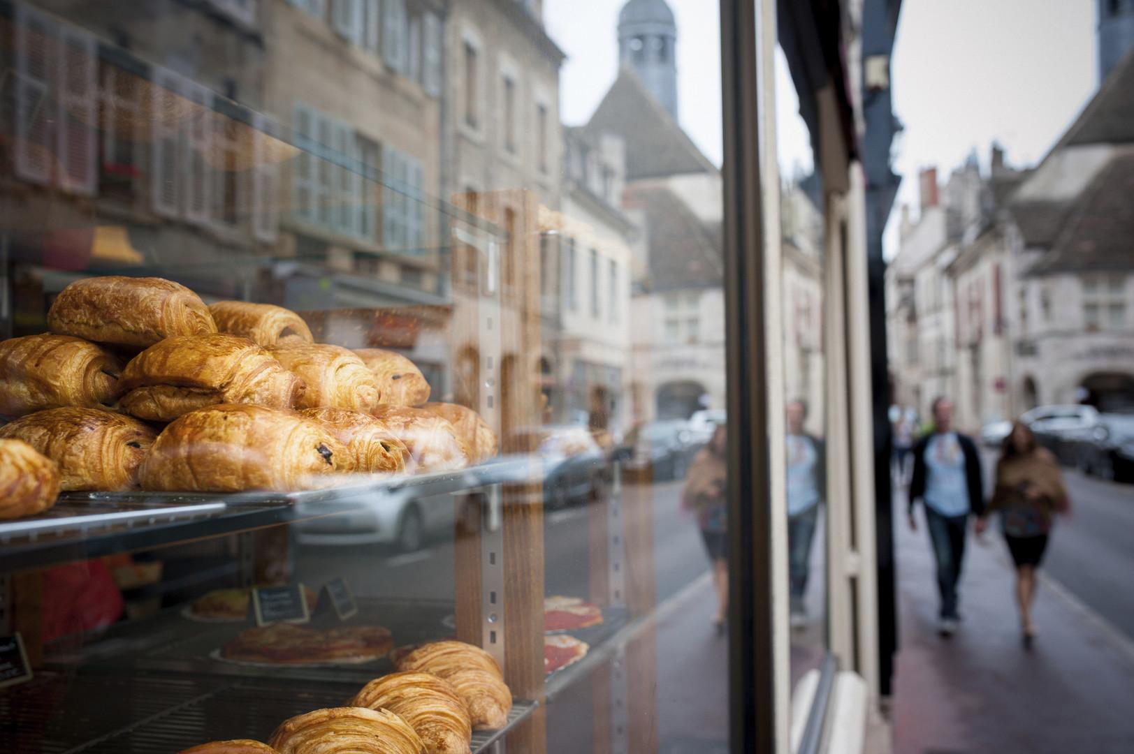 ventana de la panadería