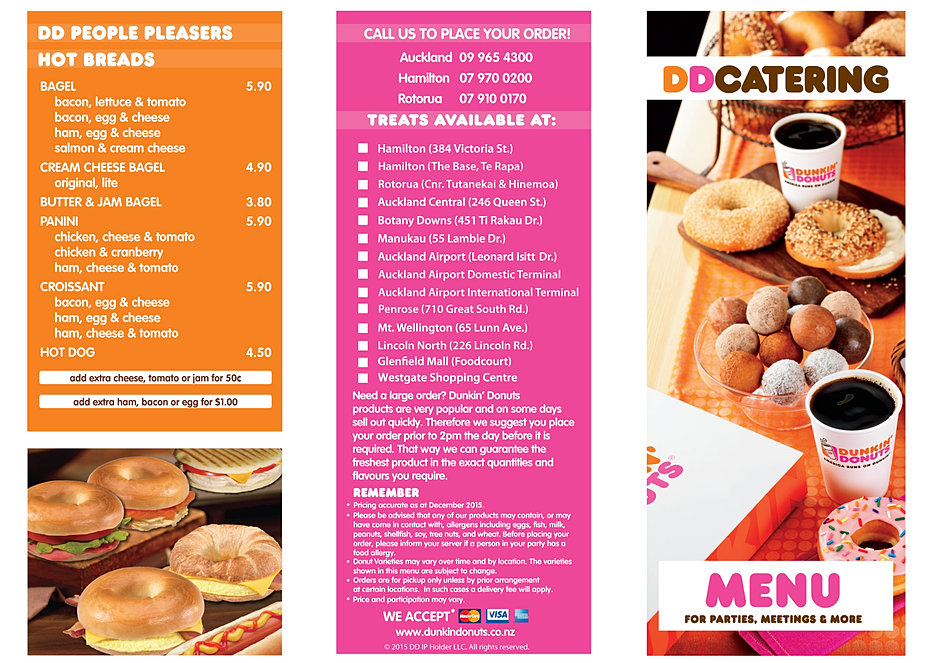 Dunkin Donuts Menu Nutrition - Blog Dandk