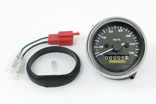 Takegawa D Type Black & White Speedometer