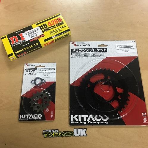 428 Chain & Sprocket Kit MSX / 125 Monkey