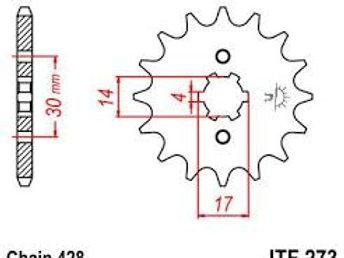 JT 428 Front Sprocket MSX