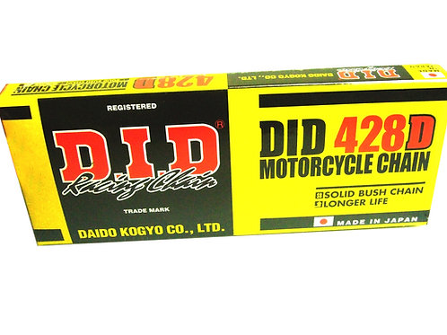 DID 428x120 Roller Motocross Chain - GOLD & BLACK