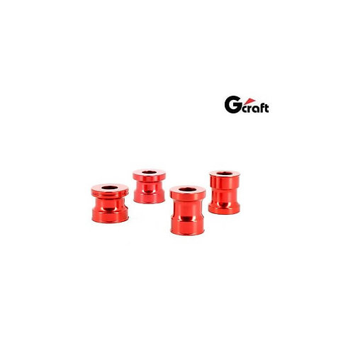 GCraft Wheel Spacers For Honda Monkey 125cc - Red Anodized
