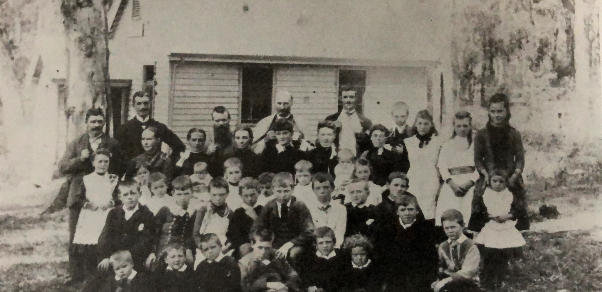 c1890 Parents  Students Mr Sparke centre