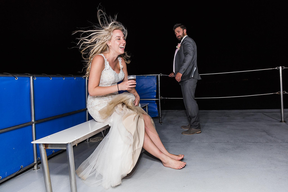 On A Boat On The Wedding Day