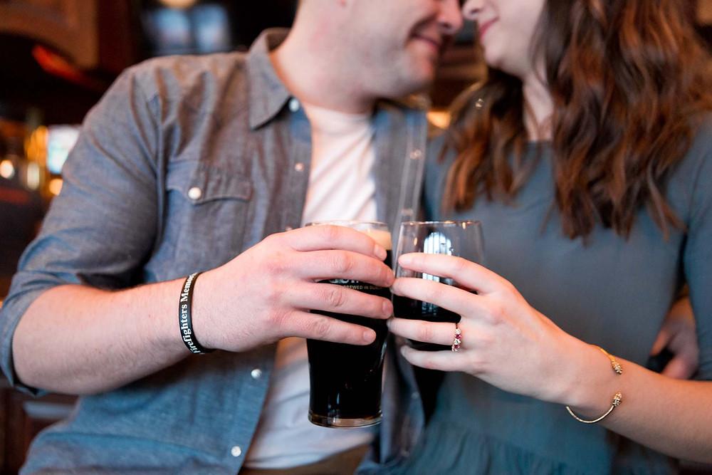 Couple Having Beers Edmonton