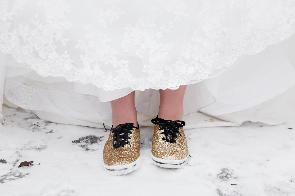 Gold Ked Wedding Shoes