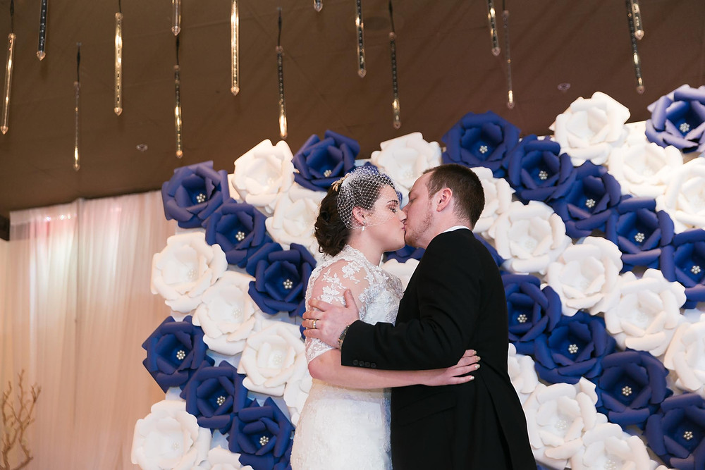 Mirage Wedding First Kiss