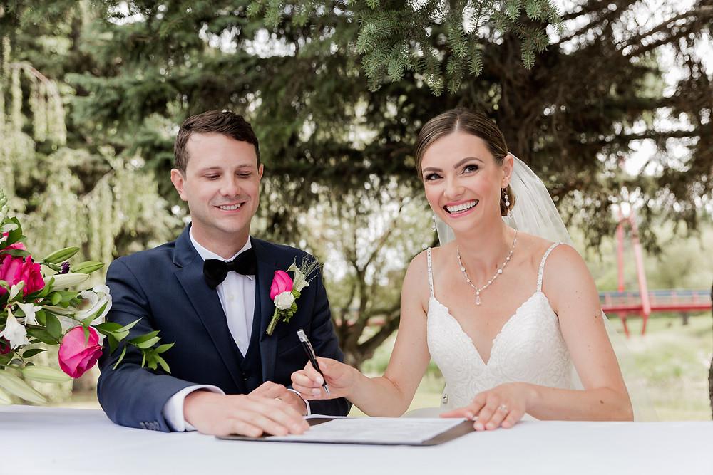 Colorful Wedding Photos