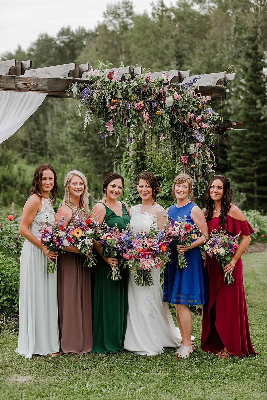Bridesmaids, stunning bridesmaids, flower bridesmaids