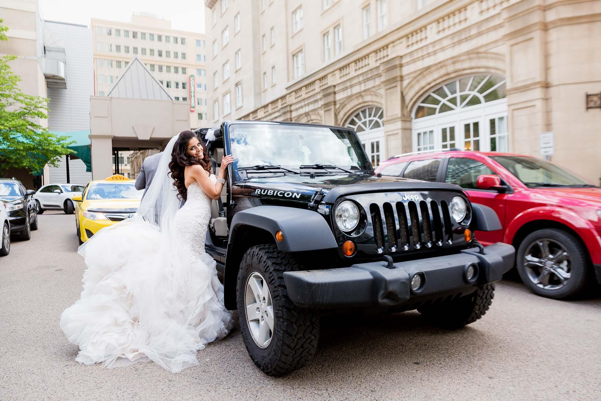 Bride and Her Jeep,Fairmont Edmonto