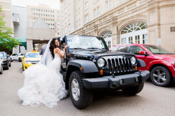 Bride and Her Jeep,Fairmont Edmonto