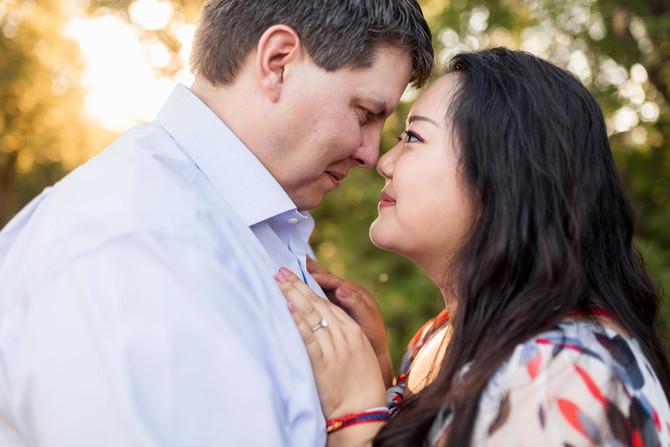 City Park and Muttart Engagement Session - Edmonton Photographer