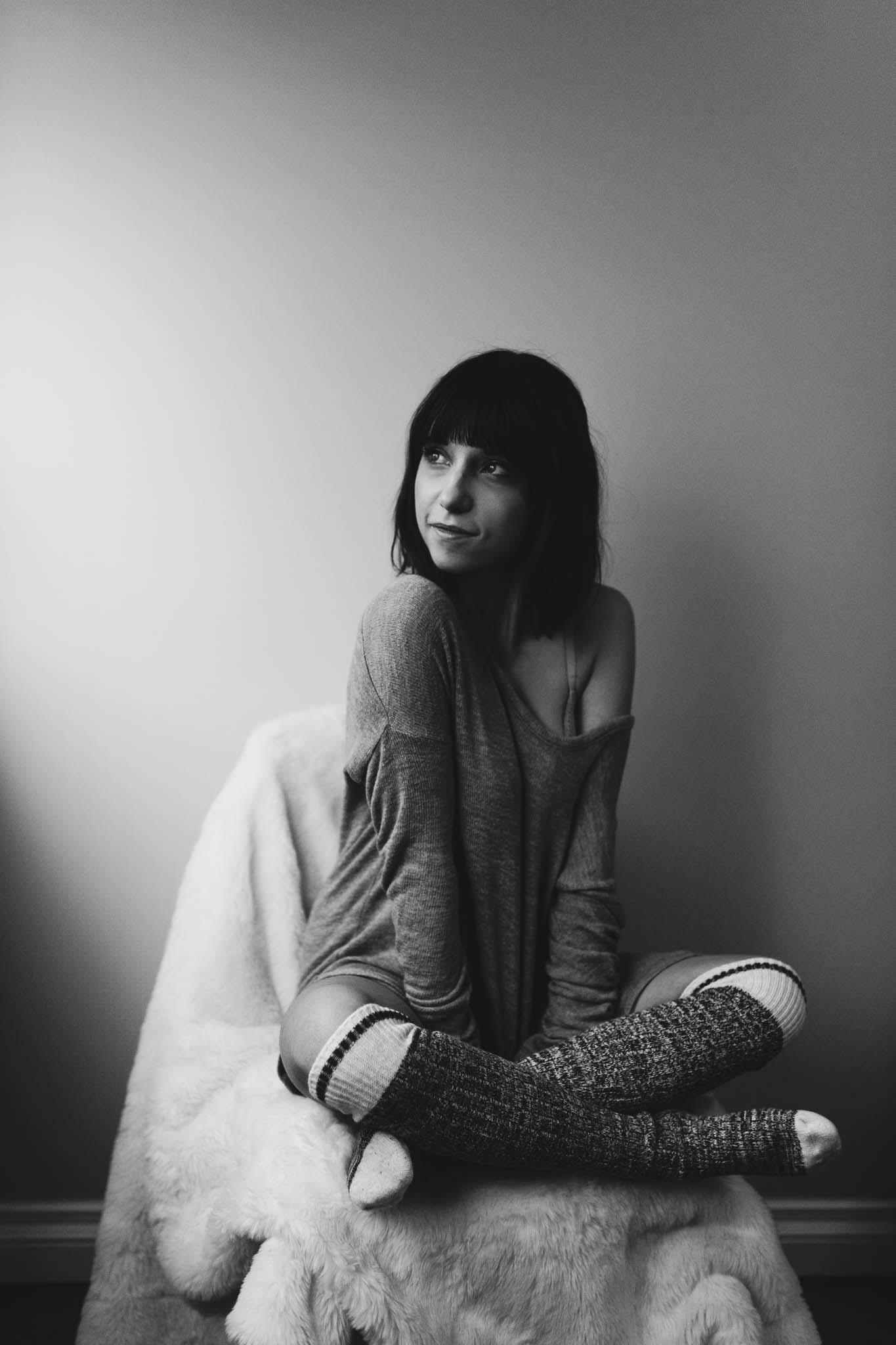Nerdy Girl Portraits In Edmonton
