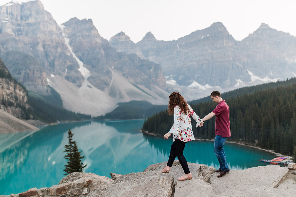 Couples Pictures at Moraine Lake