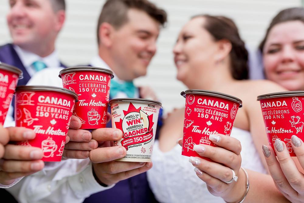 Tim Hortons Wedding Photo