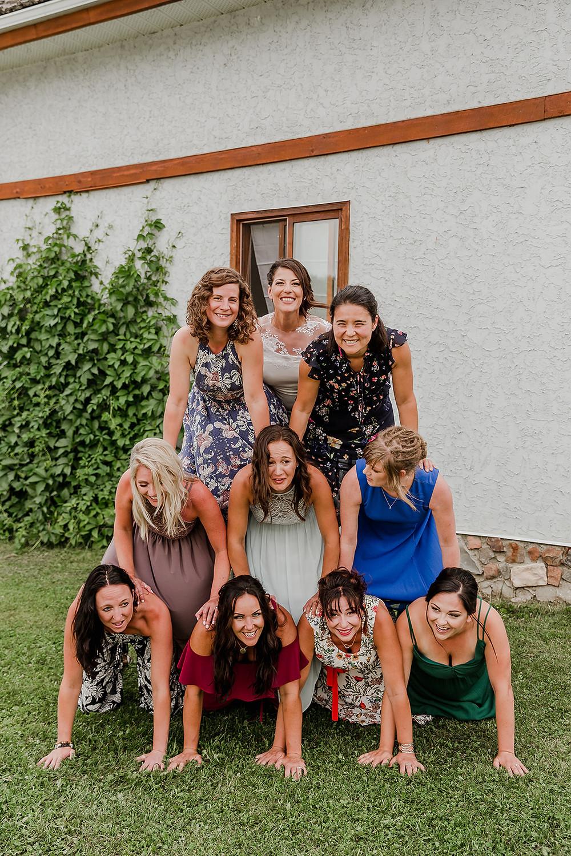 girl pyramid, wedding pyramid, wedding pyramid scheme