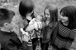 Kids seeing the new baby edmonton