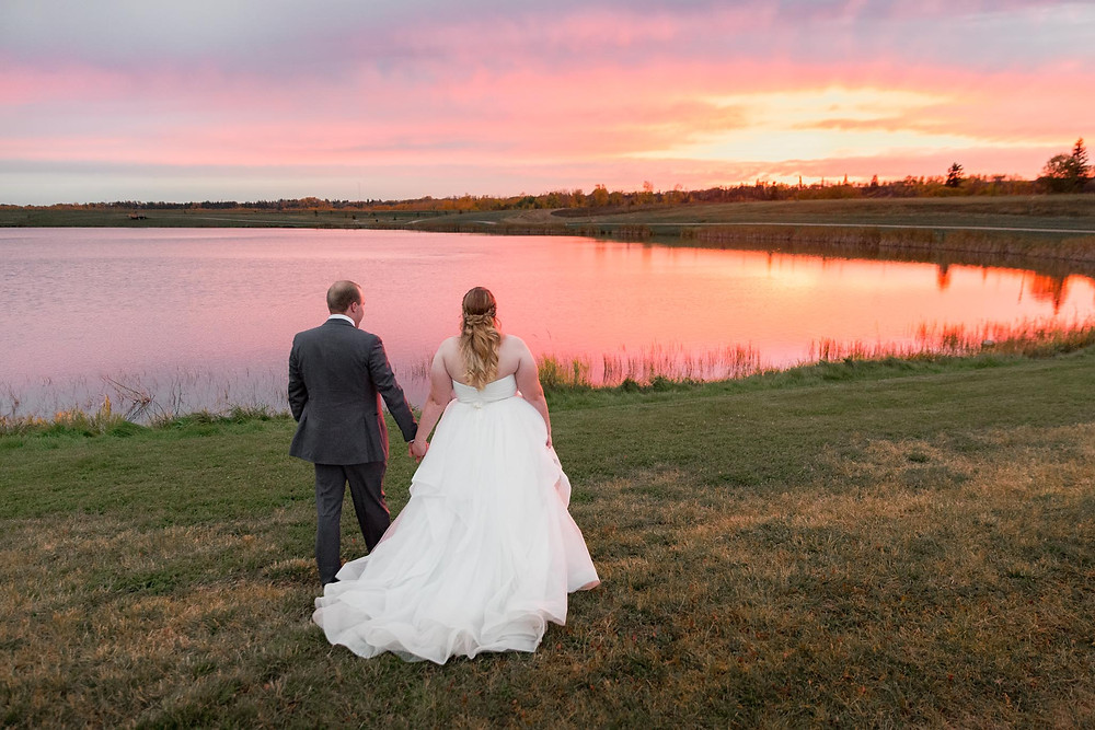 Fort Sask Wedding Sunset