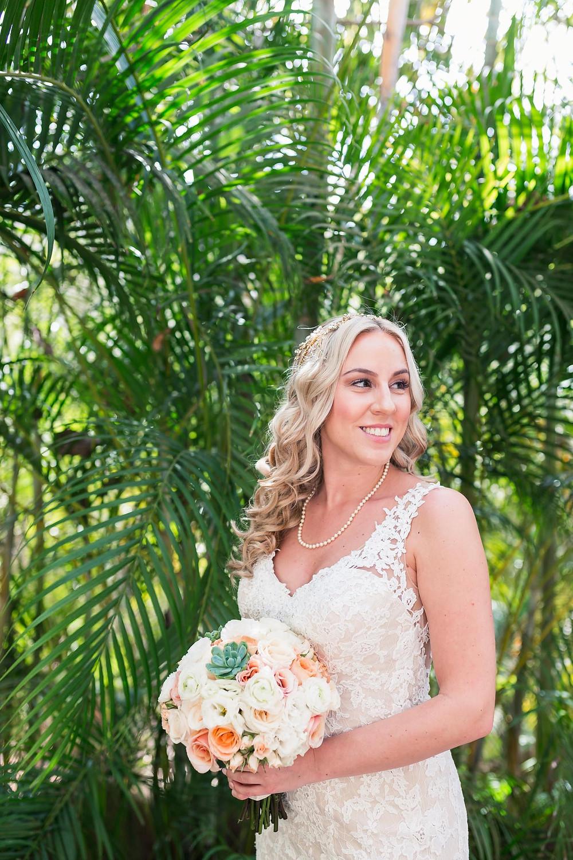 Palm Tree Bridal Portrait